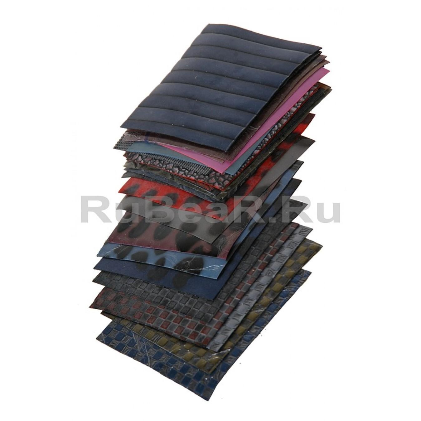 Большой набор образцов текстурного латекса