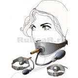 QL2108 Кляп-пробка надувной с трубкой для дыхания, на ремне