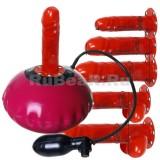 QL8177 Мини-подушка эротическая надувная с быстросменными боевыми элементами