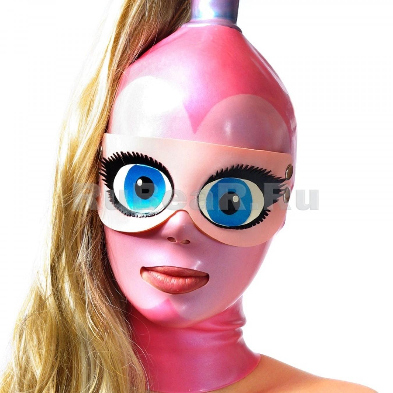 QL9101 Шоры на кнопках с анимэшными глазами