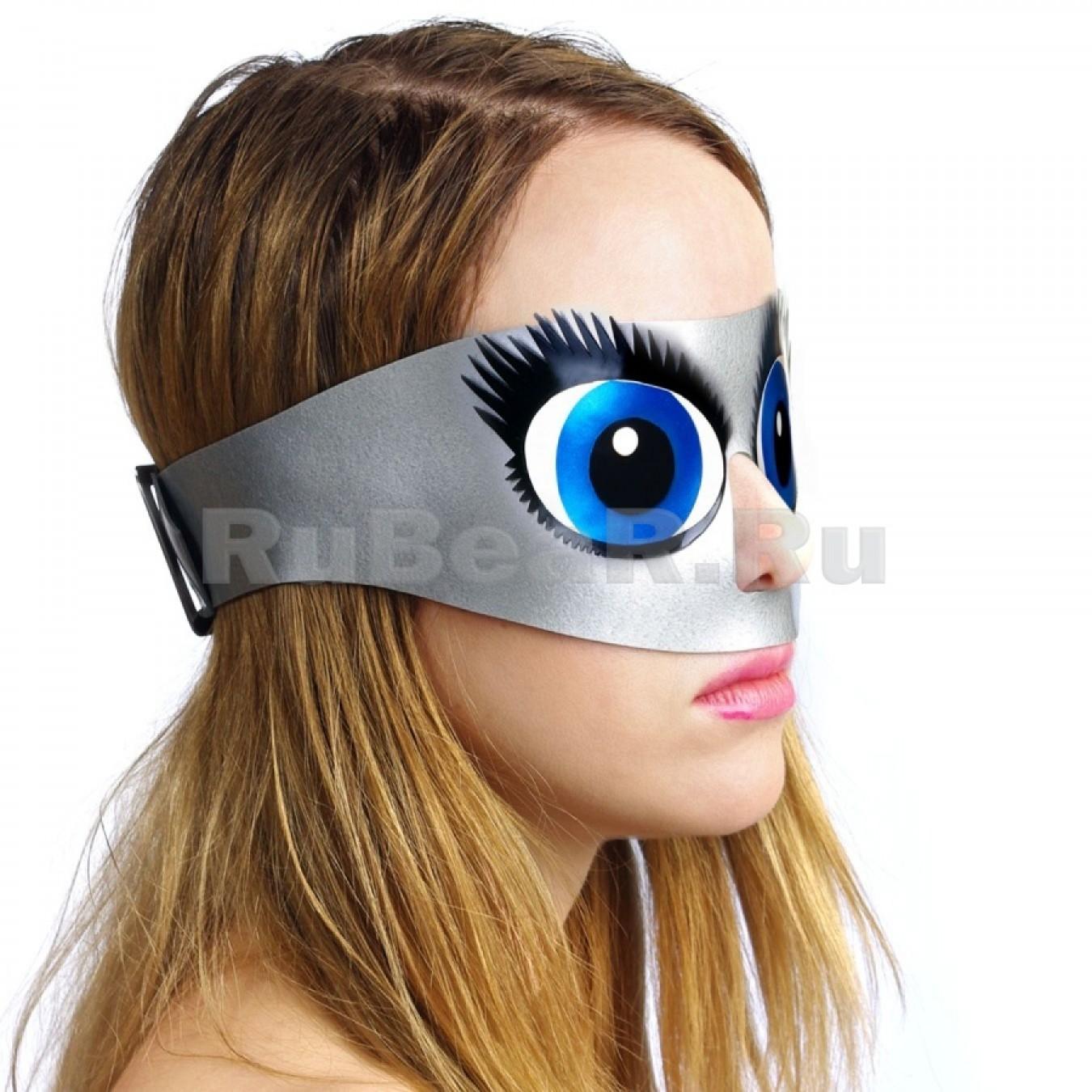 QL9103 Шоры на ремне с отверстием для носа с анимэшными глазами
