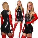 DL0005 Платье с воротником-стойкой одноцветное