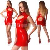 DL0008 Платье с воротником-стойкой одноцветное
