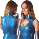 DL0018 Платье с воротником-стойкой одноцветное