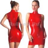 DL0020 Платье с воротником-стойкой одноцветное