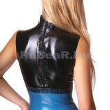 DL0304 Платье с воротником-стойкой трёхцветное