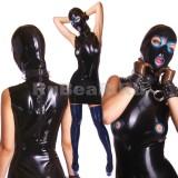 DL0406 Платье с маской двухцветное