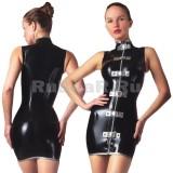 DL0555 Платье с воротником-стойкой двухцветное