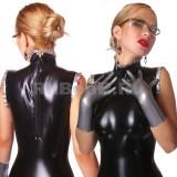 DL0701 Платье с воротником-стойкой двухцветное