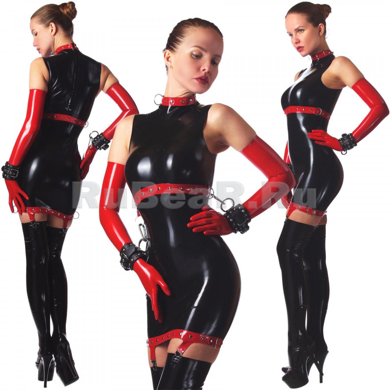 DL0817 Платье с воротником-стойкой двухцветное