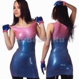 DL0201 Мини-платье двухцветное
