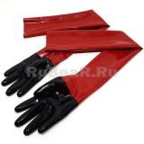 YL0305 Перчатки длинные двухцветные