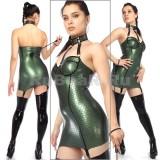 DA164050 Мини-платье с ошейником