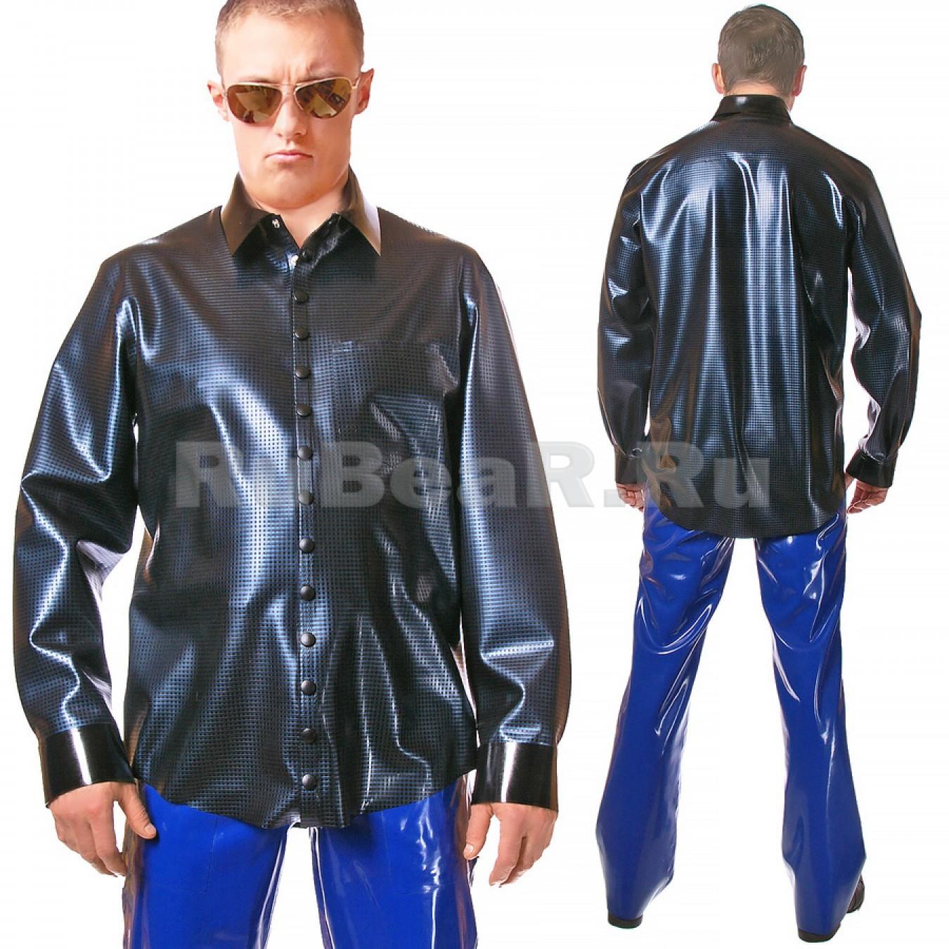 RA0246 Рубашка из текстурного латекса