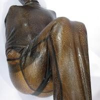 Бондажный мешок из текстурного латекса с маской